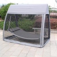 Cheap outdoor swing bed with mosquito net hanging swing gazebo tent