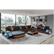 Cool Sectional Italian Design Sofas Living Room Leather Modern Couch Sofa