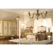 European Rococo Style Hand Painting Floral Kids Bedroom Furniture, Antique Kid's Bedroom Set