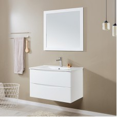Glossy White Factory Price Traditional bathroom corner wall mounted floating cabinet For Bath Furniture