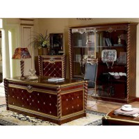 Baroque Style Luxury Executive Office Desk/ European Classic Wood Carving