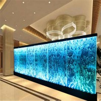 Customized LED water bubble panel wall design for restaurant hall decorations
