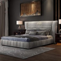 latest design luxury home furniture bedroom kind size fabric bed foshan supplier