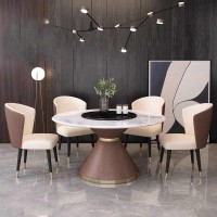 hot selling latest Italy design dining room home furniture luxury stainless steel leather