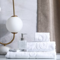 Quality Egyptian Cotton Dobby Thick and Big Hotel Bath Hand Towel for Five Star, Luxury 100% Cotton Bath Towel Set for Hotel