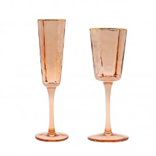 Nordic Champagne Cup Gold rimmed personalized wedding goblet red wine glasses Hotel tableware Restaurant glasses