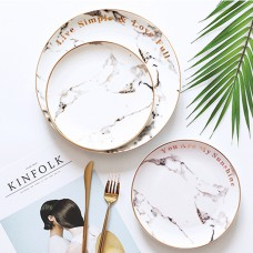 Graceful pattern home goods ceramic dishes plates for restaurant