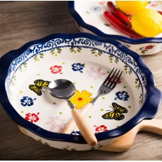 9 inch pie plate pizza plate cheese ceramic fruit plate
