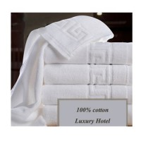 High quality quick dry 5 star 100% cotton 21s terry muslin small white hotel blank dobby