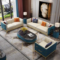 living room 3 2 1 seater mix color fabric sofas modern Italian perfect color match