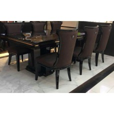 large dining table 8 seater dining table set wooden veneer top for dining room furniture