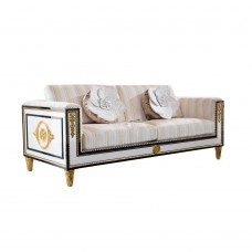 Spanish Style Wooden Design Royal Furniture fabric Upholstery latest modern