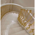 Prefabricated stairs gold color aluminum railing balustrades handrails